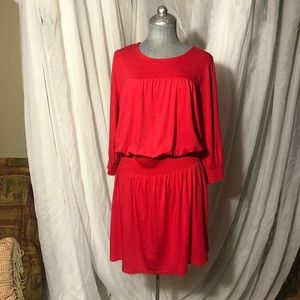 Cable & gauge red dress